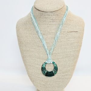 Lia Sophia Jewelry - Lia Sophia Boho Chic Teal Rope & Pendant Necklace